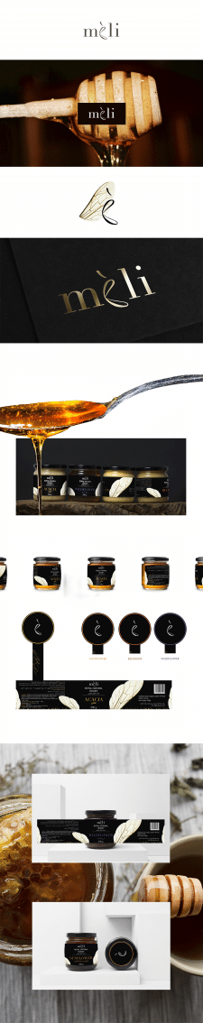 Логотип и этикетка для меда