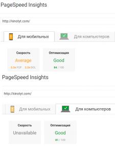 Оптимизировал сайт по #PageSpeed в #google