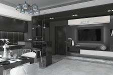 Дизайн интерьера в черно-белом стиле