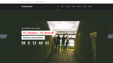 Вёрстка футбольного сайта - ULTIMATE SPORT