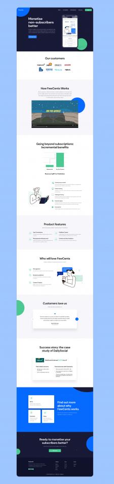 """Дизайн сайт для """"FewCents"""""""