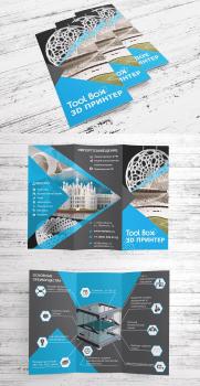 """Дизайн буклета """"Тесла Тек"""" 3D принтеры"""