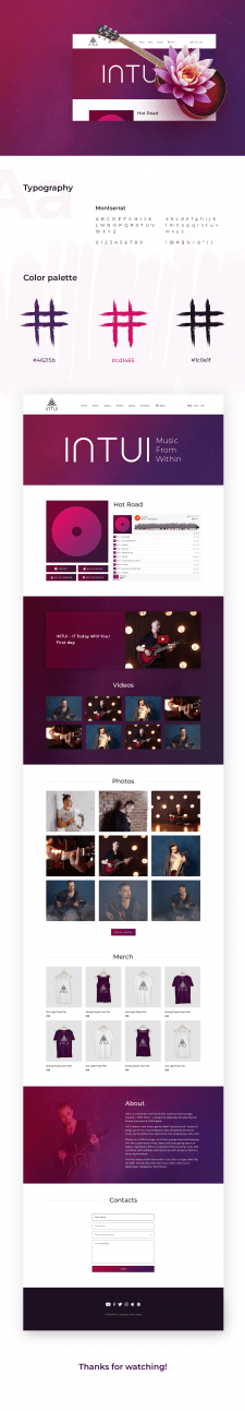 INTUI - Дизайн сайта для рок-группы