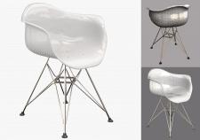 Моделирование современного стула (Eames Plastic )