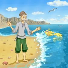 """Іллюстрація до казки """"Рибак і рибка"""""""