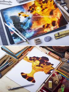 серия рисунков к игре Magick Craft