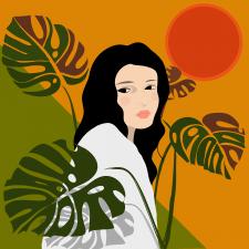 Дівчина в тропіках