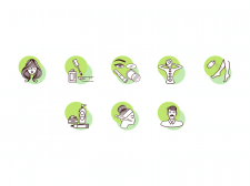 Иконки для главных разделов сайта Marzzipan