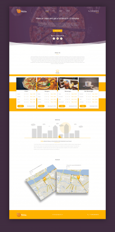 """""""PiZZa"""" Landing page"""