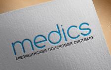 Логотип - медицинская поисковая система