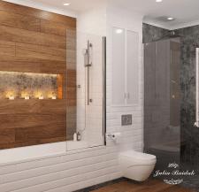 Дизайн ванной комнаты в Казахстане.