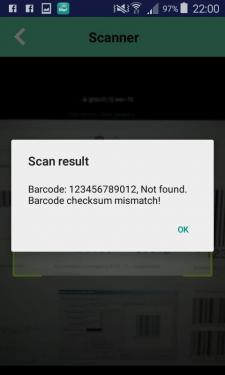 Реализация проверки контрольной суммы сканера кода