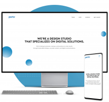 CMS WordPress Сайт студии web-дизайна (Португалия)