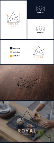 Логотип Royal craft wood 3