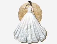 fashion-иллюстрации свадебных платьев