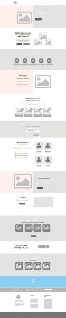 Прототип сайта няня-клуба Мамино-время