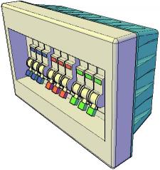 3D-щиток (смоделирован в AutoCad)