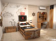 Детская комната в пиратской тематике