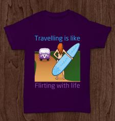 Принт Traveling is...