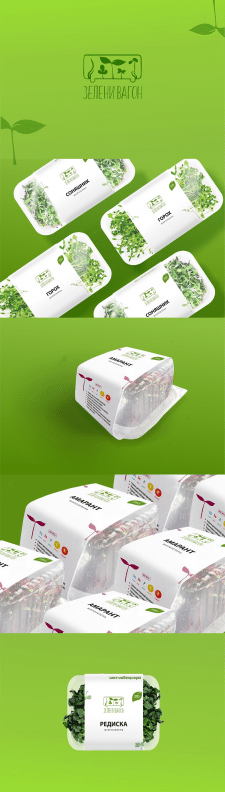 дизайн этикетки для микрозелени