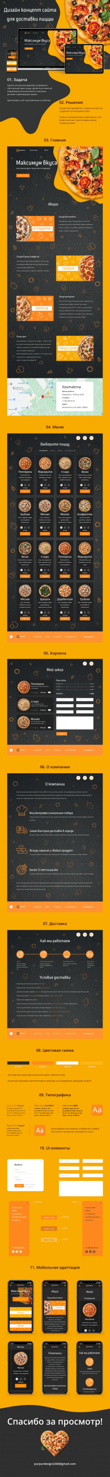 Website for Pizza Delivery