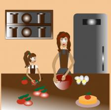 кулинария дома векторная иллюстрация