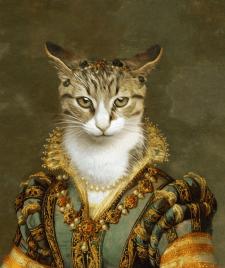 Портреты животных в исторических костюмах