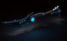 Glowing sword ax
