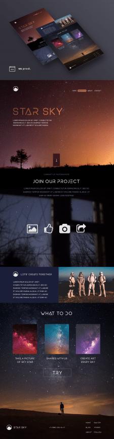 Промо-сайт для проекта STAR SKY
