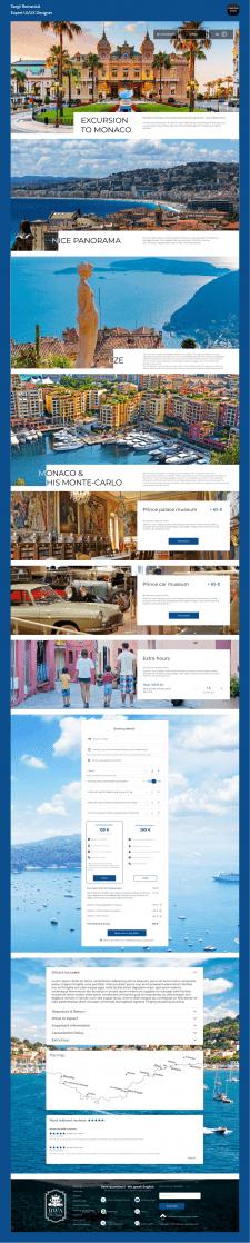 Сторінка екскурсій для туристичного сайту