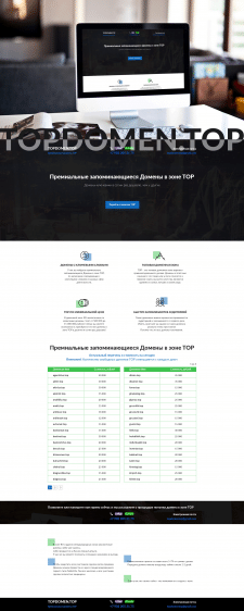лендинг сайта по продаже доменов