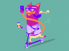 Busy cat