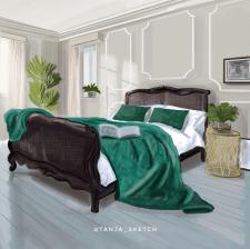 Дизайн спальни во французском стиле