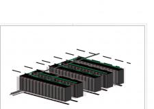 3D фрагмент серверной (печать из Ревит 16)