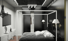 спальня черная
