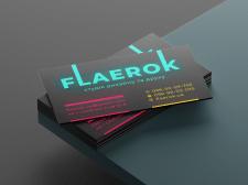"""Визитки для студии """"Flaerok"""""""