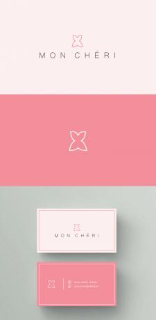 Логотип, визитка для бутика одежды MON CHERI