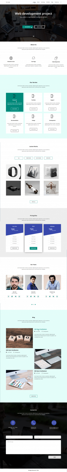 Landing page - Web Development Project