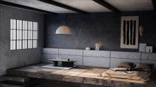 Интерьер двухуровневой квартиры в стиле ваби-саби