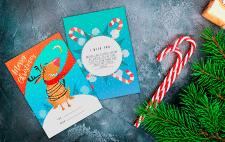 Дизайн персонажа и праздничной открытки