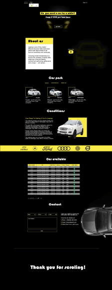 Landingpage компании для лизинга авто