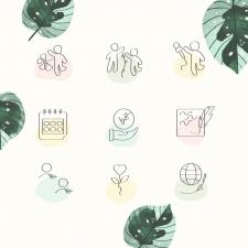 Иконки Highlights для цветочного магазина