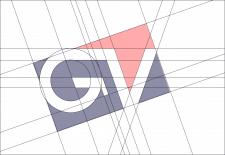 Шрифтовой логотип GV (Gnatyuk Vadim)
