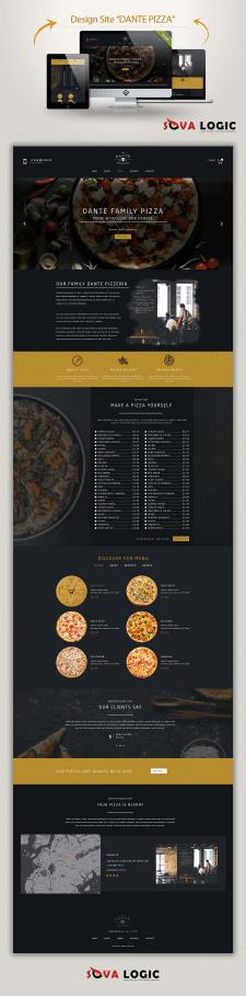 "Дизайн лендинга ""Dante Pizza"""