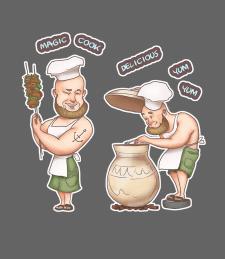 Стикеры  (карикатура, стилизация)