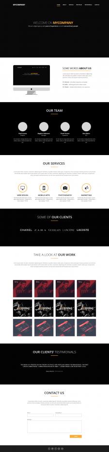 Landing page компании