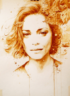 Marion  Cotillard, coffee