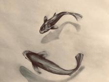 """Рисунок """"Рыбки"""". Карандаш, бумага"""