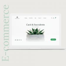 Website design for the shop of cacti & succulent
