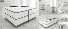 Модульная кухня - трансформер в стиле минимализм